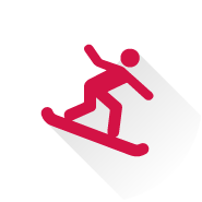 Icon Image: Quiz Answer: Find the nearest hill and practice your snowboarding skills